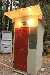 Compost toilet outhouse tumbleweed houses for Building a permanent tiny house
