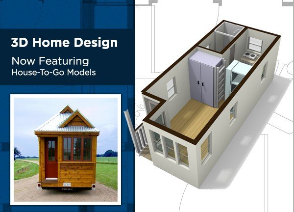 Just added house to go 3d design tumbleweed houses for Small house design 3d