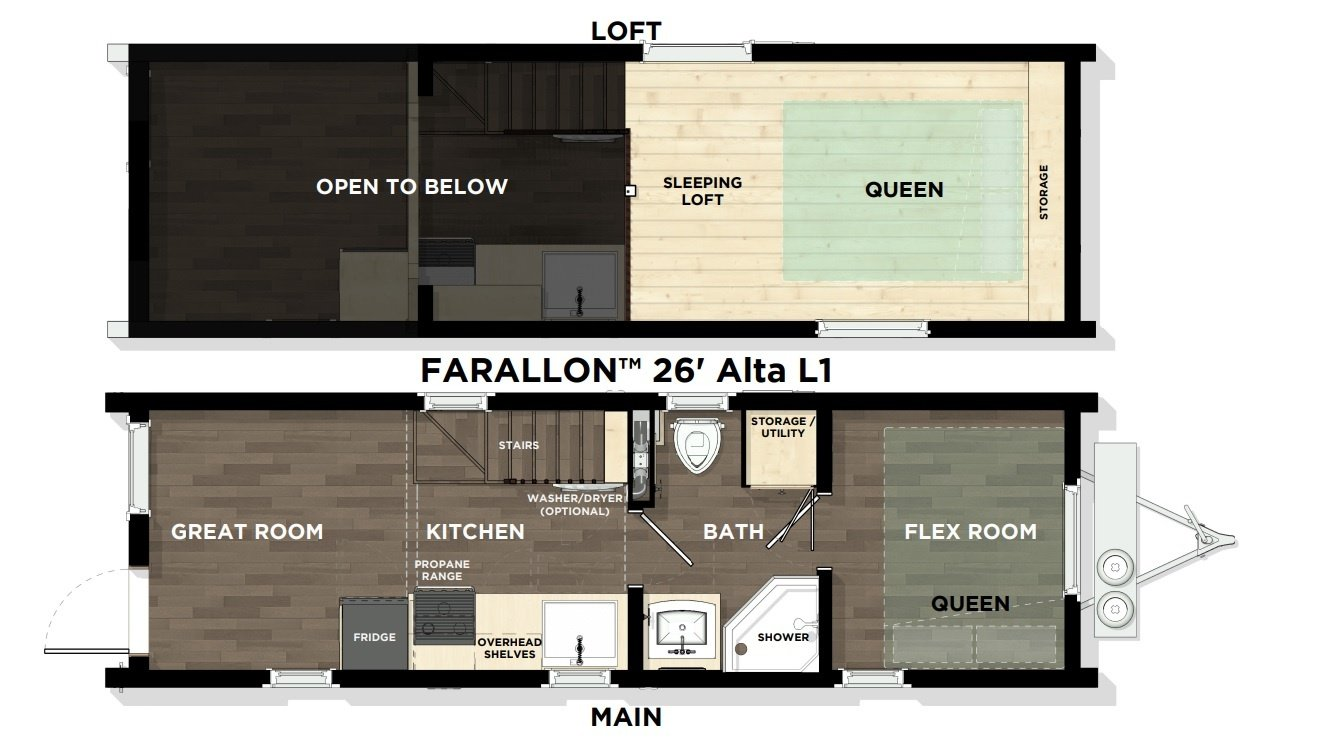 Farallon™ 26' Vista L1 Floor Plan