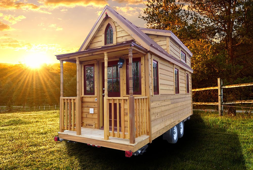 Meet the Pequod, our most elegant and complex build to date. This is a larger tiny house that we built for a family of four currently residing in Indiana. At 26′ long, this house weighs 11,# dry and maxes out at 8′-6″ wide and 13′-6″ tall. It uses a drop axle trailer chassis that makes.
