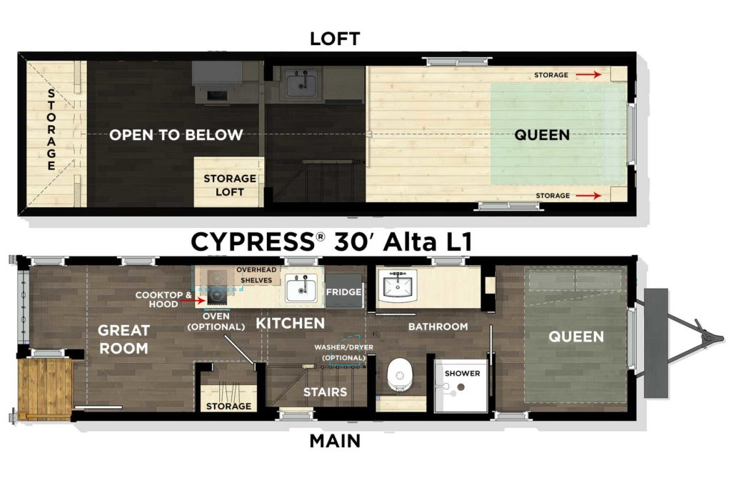 CYPRESS® 30′ Alta L1 Floor Plan