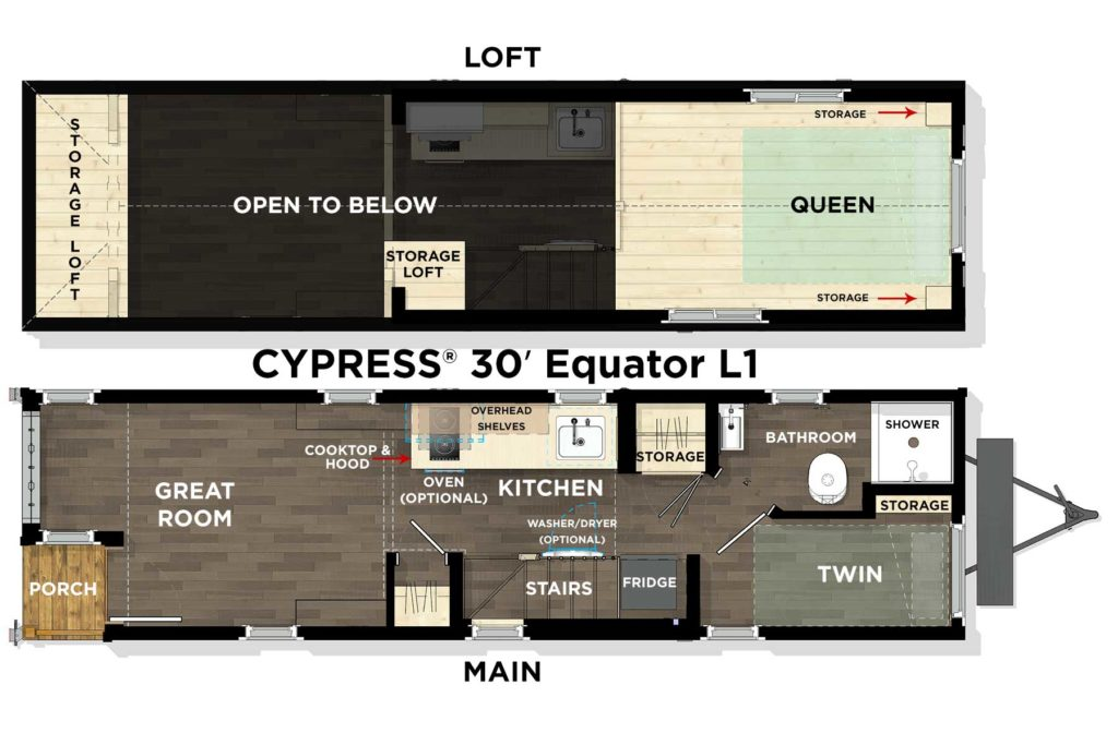 CYPRESS® 30′ Equator L1 Floor Plan