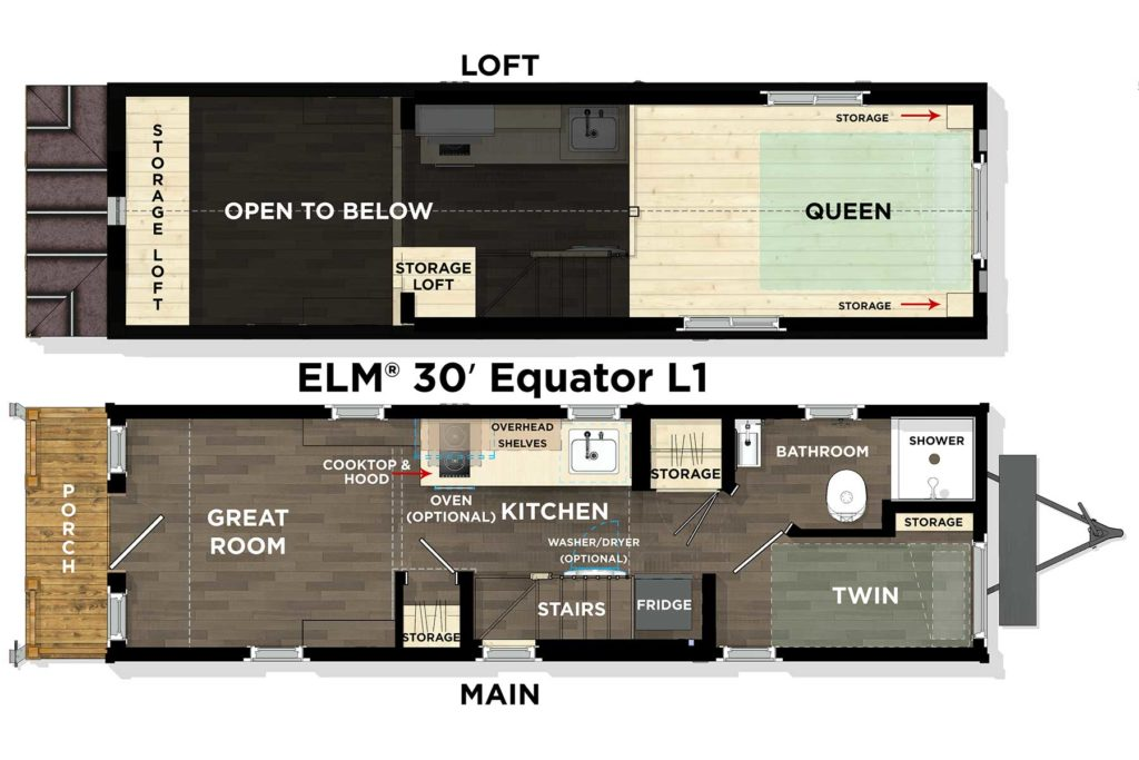ELM® 30′ Equator L1 Floor Plan