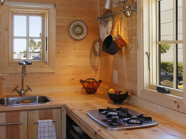 Tiny cabin kitchen images galleries for Tiny home kitchen ideas
