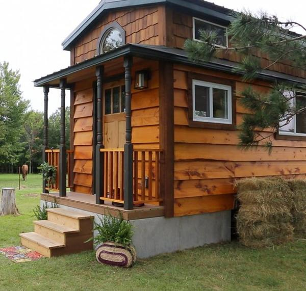 Skirting your tiny house rv tumbleweed houses for Tiny homes on foundations