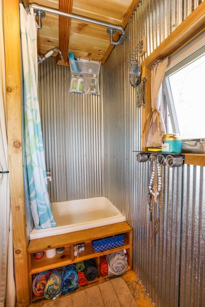 5 shower ideas for tiny house rvs - tumbleweed houses