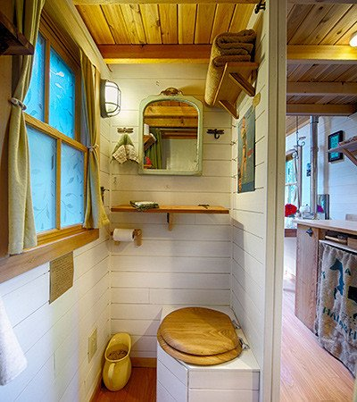 See More Images Inside Brittanys Fencl Small House Interior Design Ideas Magnificent Tiny Bathroom
