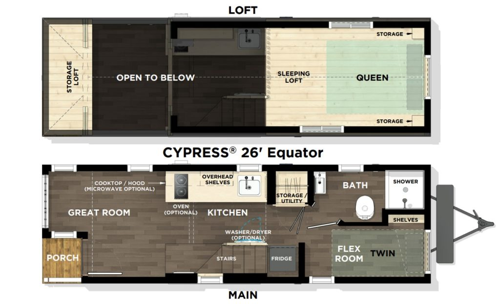Cypress® 26' Equator L1 Floor Plan