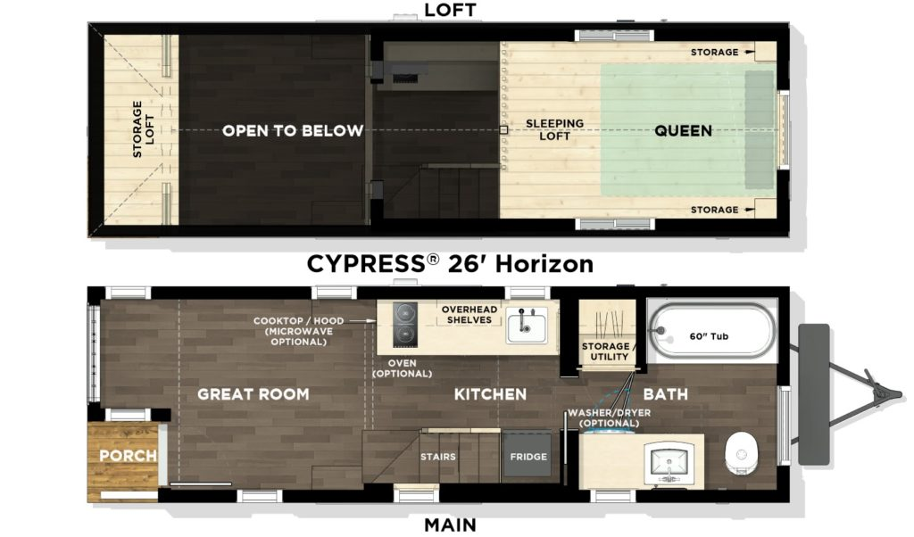 Cypress® 26' Horizon L1 Floor Plan