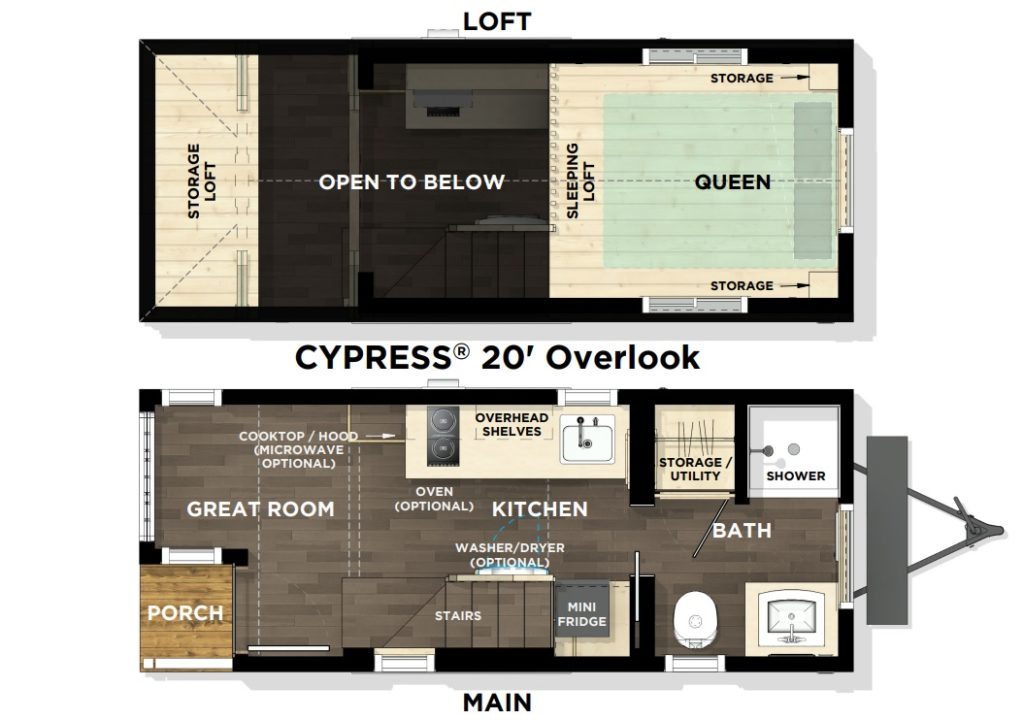 Cypress® 20' Overlook Floor Plan