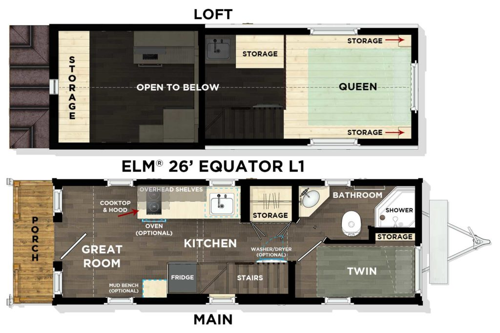 ELM® 26' Equator L1 Floor Plan