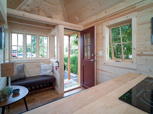 here is what the interior of a tiny house rv with a hipped roof looks like - Interior Roof Designs For Houses