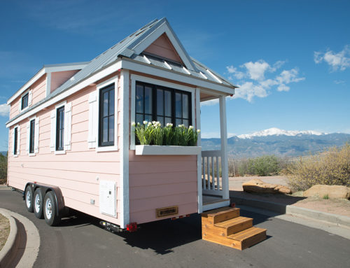 Colorful Jellystone Tiny House RVs! Learn how you can stay the night.