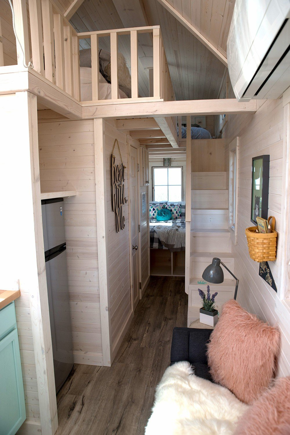Colorful jellystone park tumbleweed tiny house rvs available for rent - Tumbleweed tiny house interior ...
