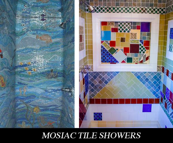not plan on moving your tiny house rv often tile might be a wonderful option for a creative and beautiful tiny shower get a mosaic shower