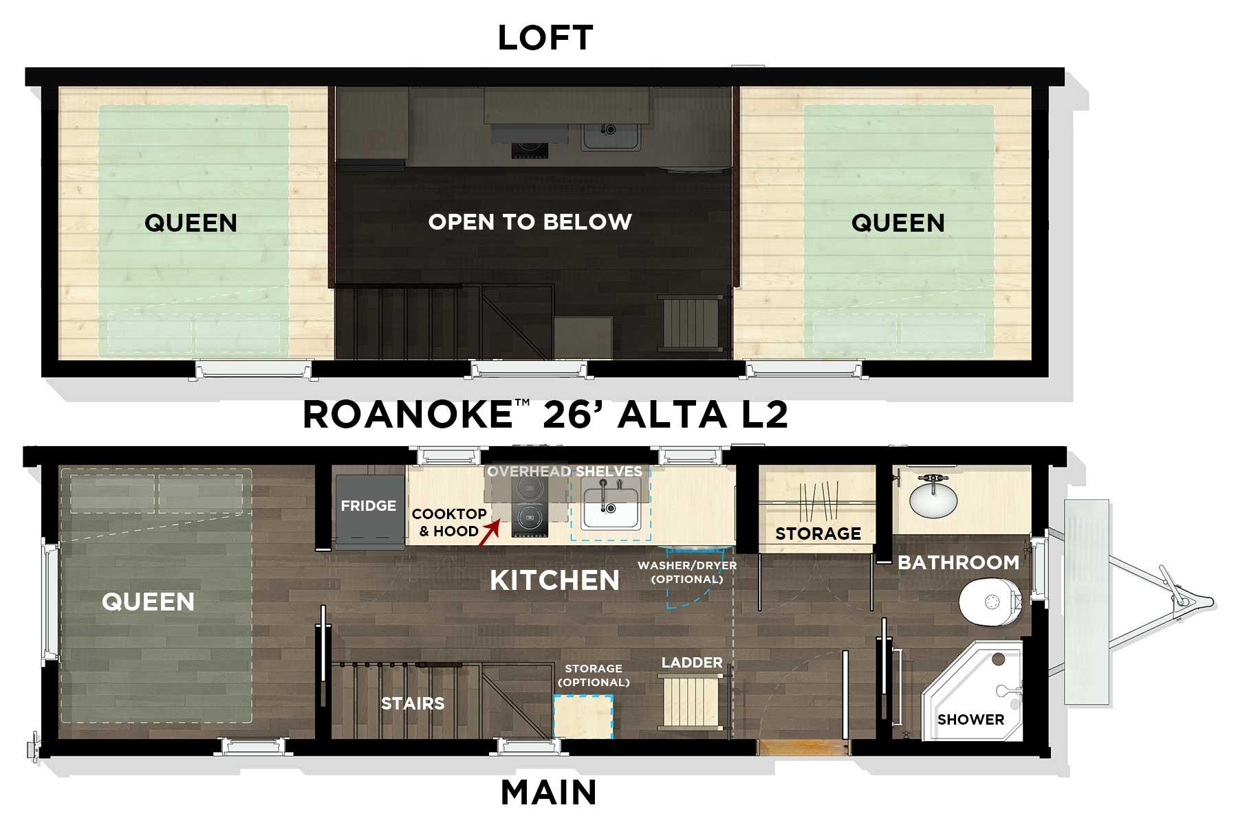 ROANOKE™ 26' Alta L2 Floor Plan