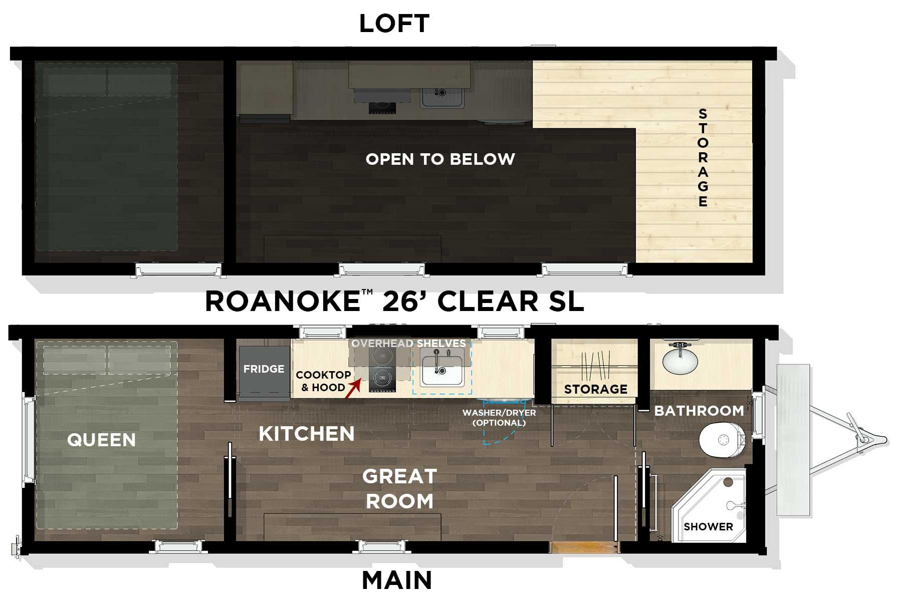 Farallon™ 26' Pacific L1 Floor Plan