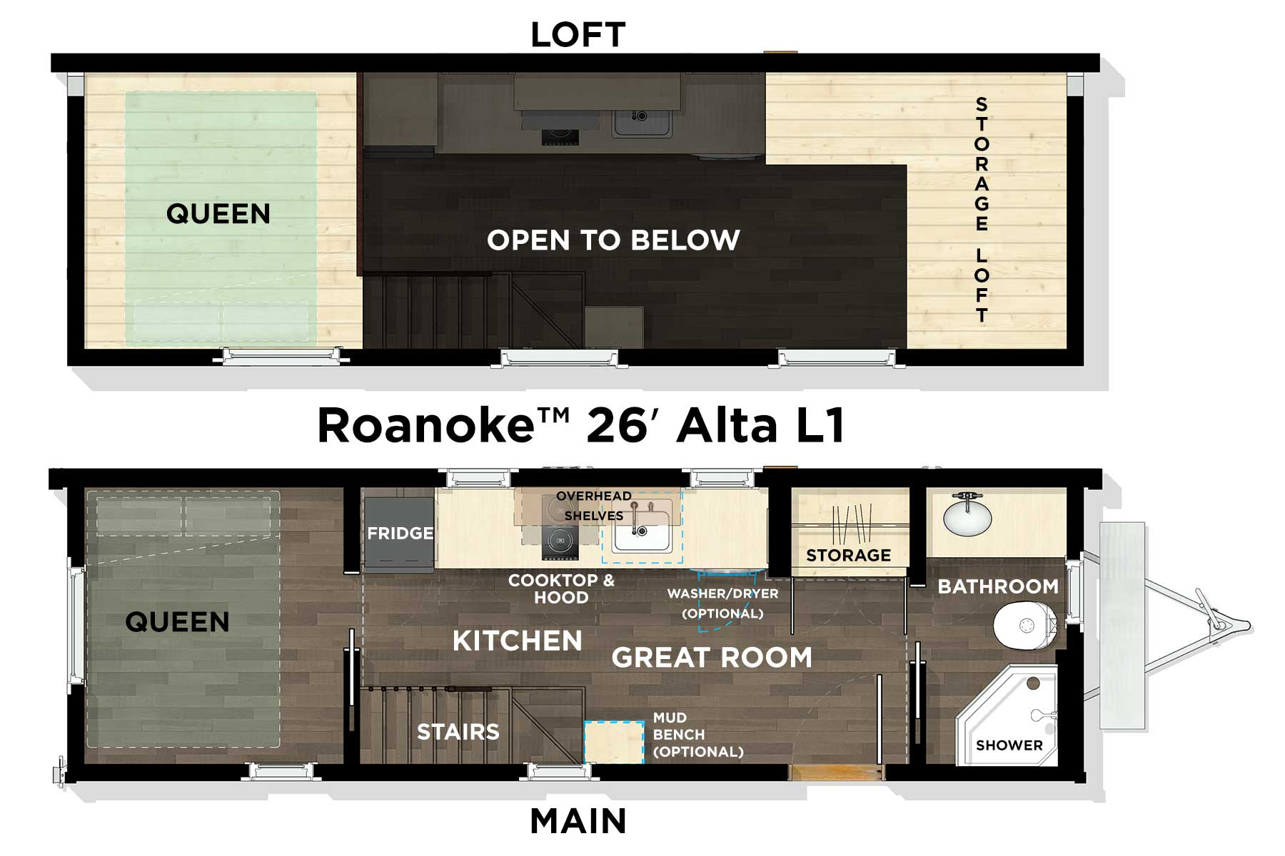 Roanoke™ 26' Pacific L1 Floor Plan