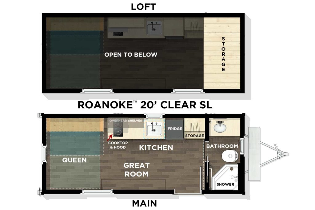 Roanoke™ 20' Clear Floor Plan