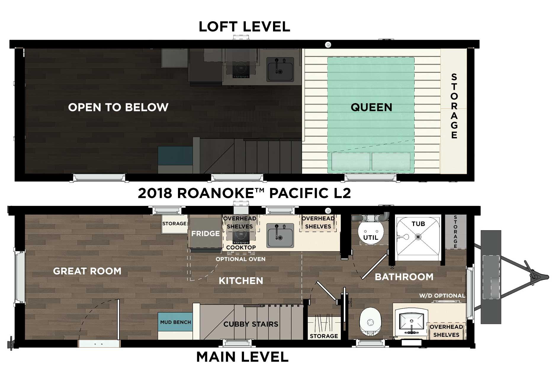 Roanoke™ Pacific with Bathtub