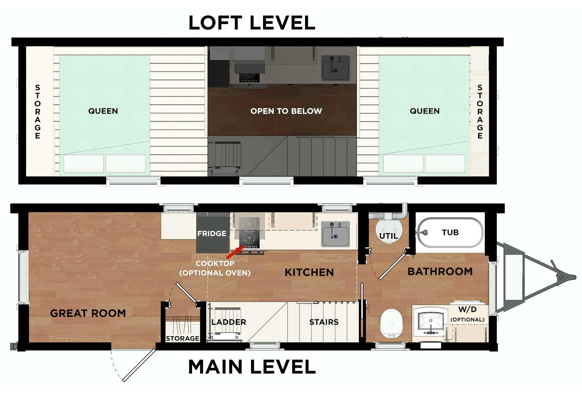 Roanoke Pacific Floor Plan