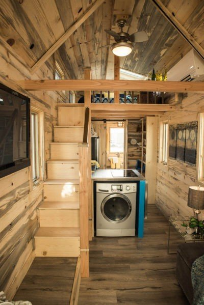 tumbleweed tiny house elm with beetle kill interior - Tumbleweed Tiny House Interior