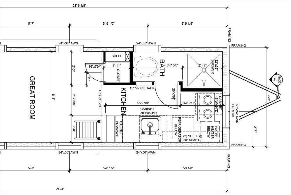 Tiny House Blueprints a closer look at the sonoma shanty tiny house plans tiny house Purchase Tumbleweed Tiny House Building Plans