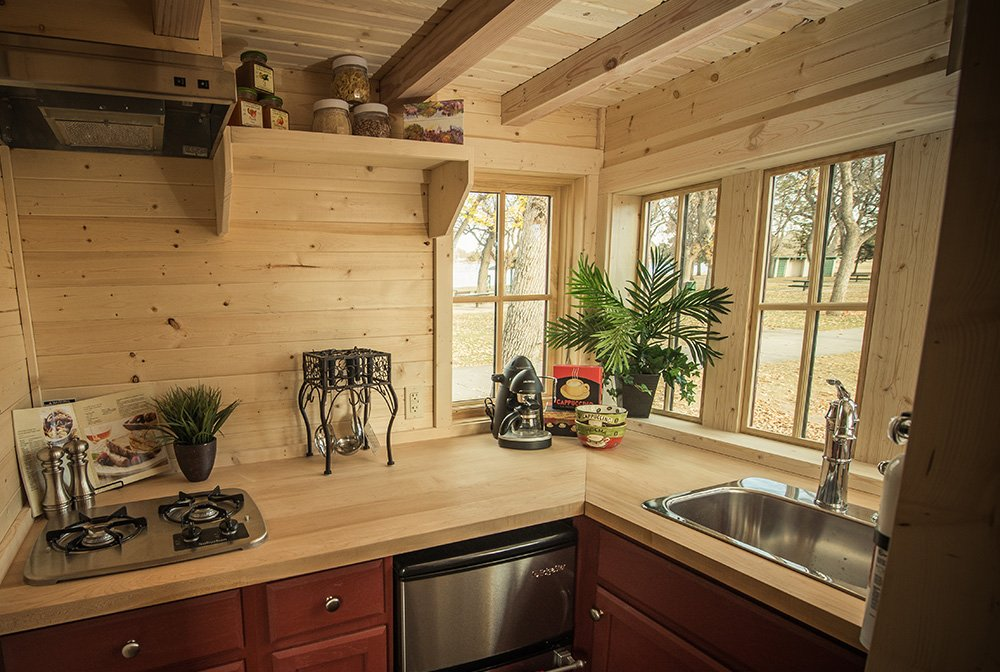 Contemporary Tumbleweed Tiny House Inside Kitchen S To Inspiration