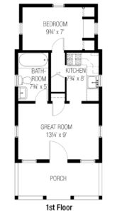 Cottages Tumbleweed Houses - 750 sq ft house floor plans